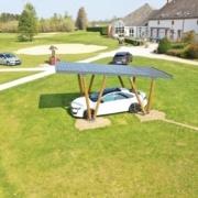 Carport photovoltaïque réalisé par le Groupe Roy Énergie 1