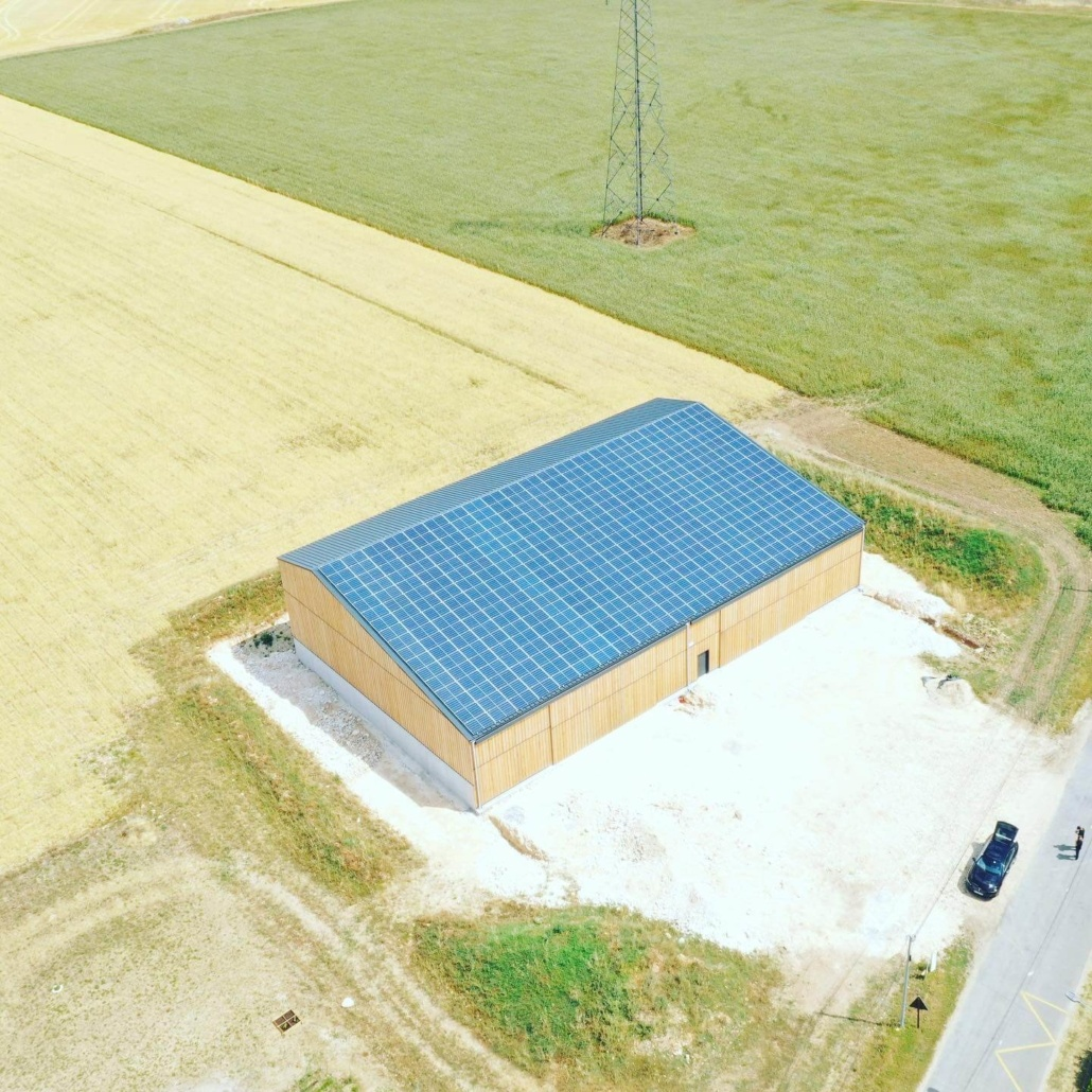 Panneaux photovoltaïques agricoles 100kWc GRE 1