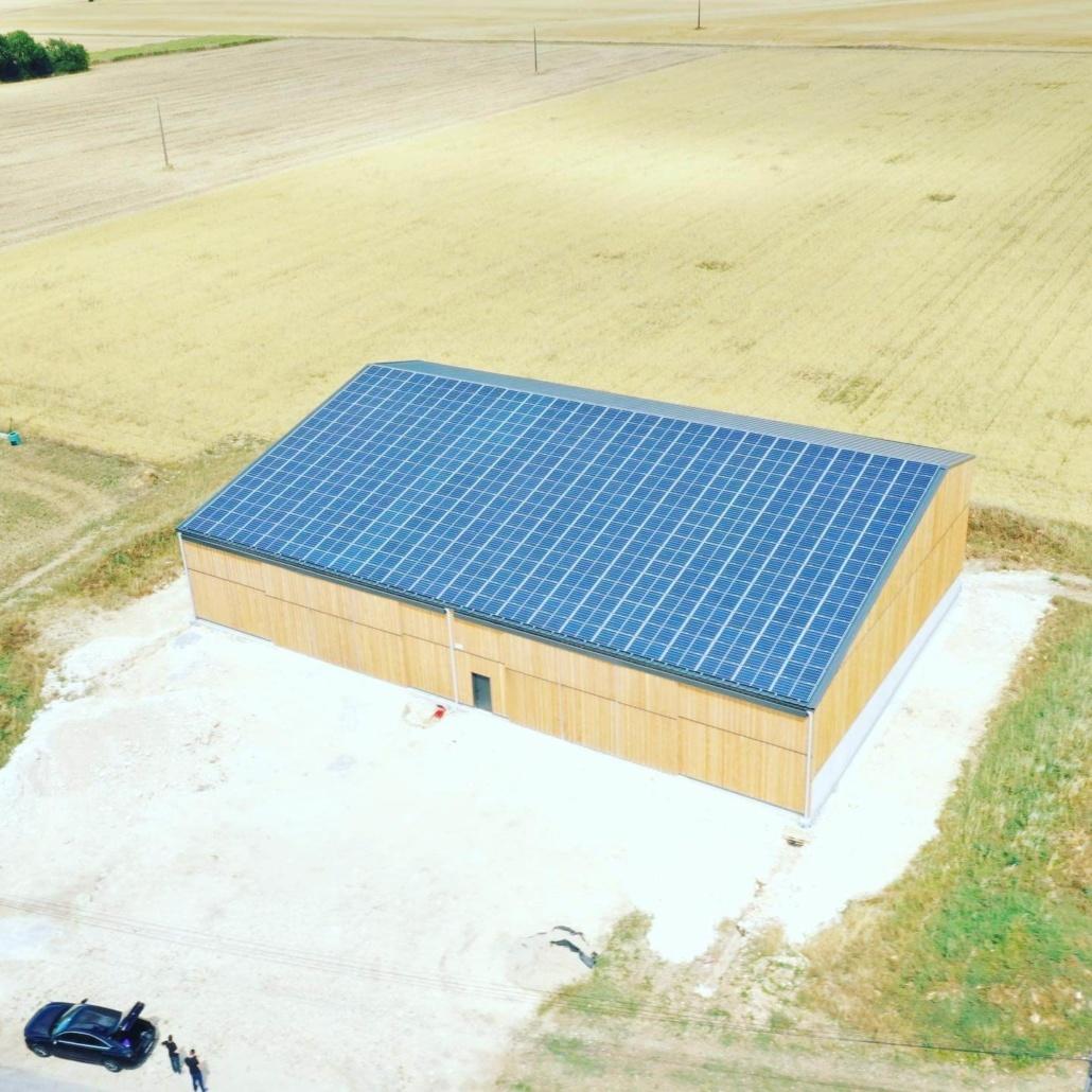 Panneaux photovoltaïques agricoles 100kWc GRE 2