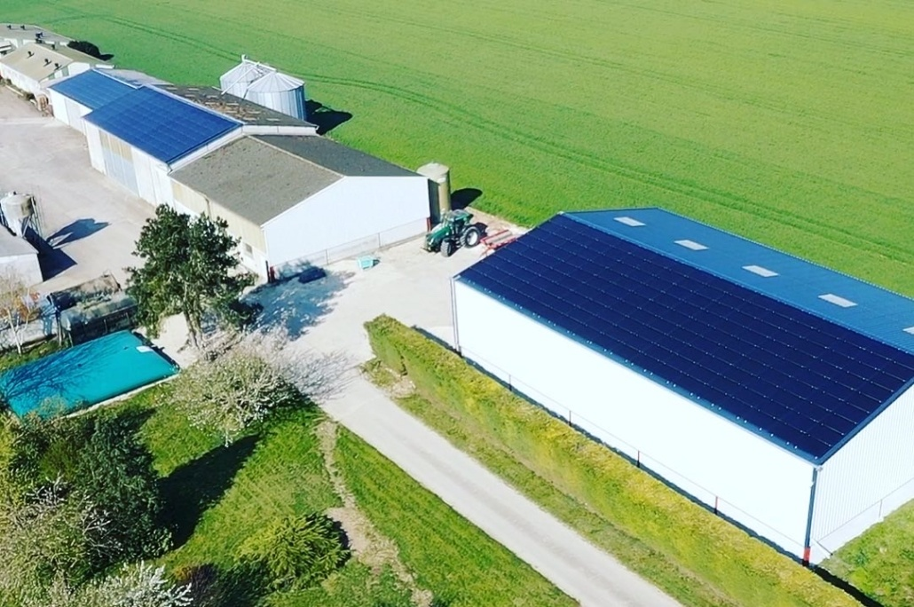 Panneaux photovoltaïques 100kWc + 11kWc exploitation agricole 45170 1