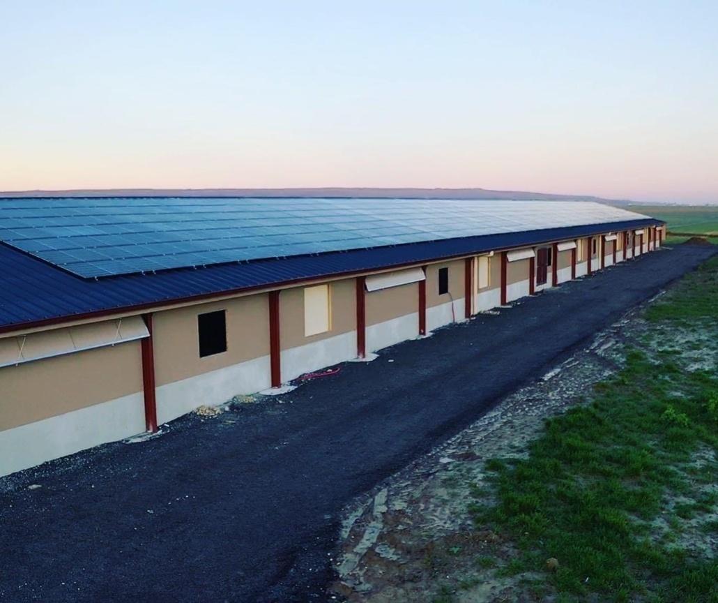Panneaux photovoltaïques 100kWc exploitation agricole 28300 2