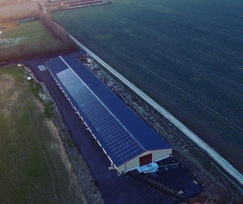 Panneaux photovoltaïques 100kWc exploitation agricole 28300 3