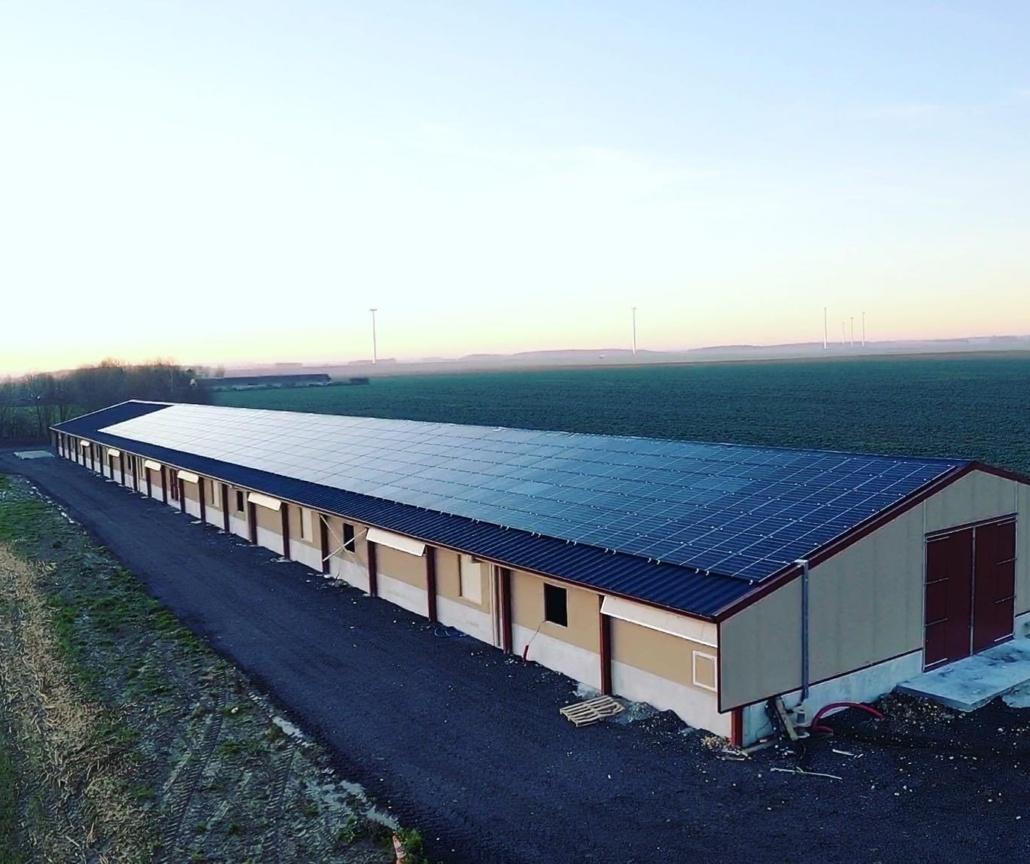 Panneaux photovoltaïques 100kWc exploitation agricole 28300 4
