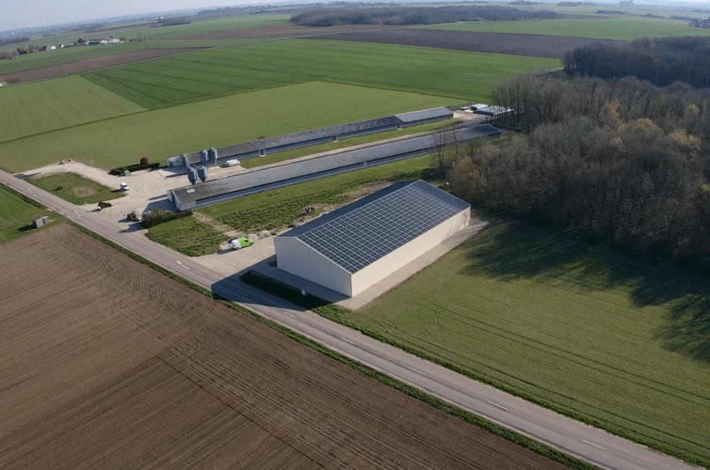 Panneaux photovoltaïques 100kWc exploitation agricole 45340 2