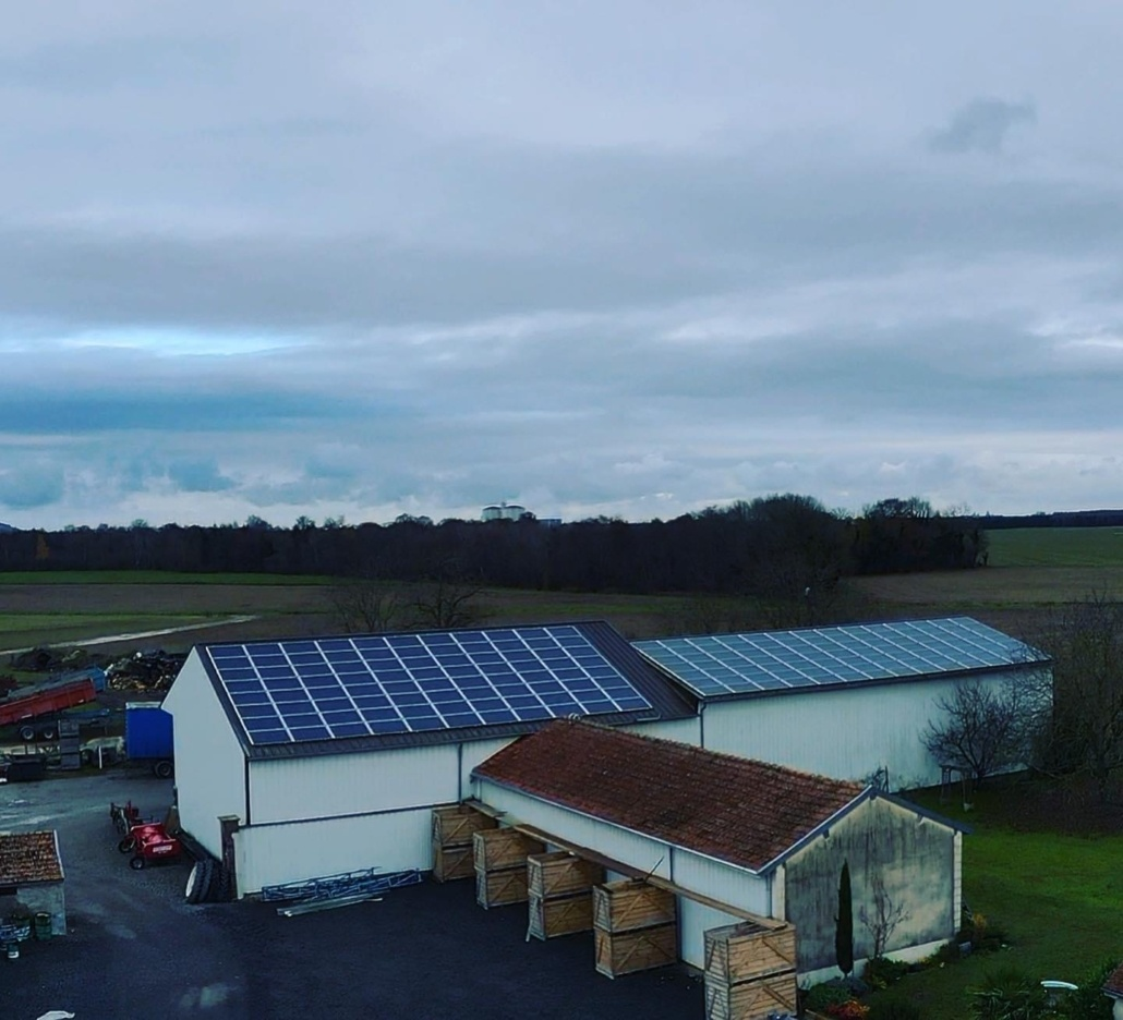 Panneaux photovoltaïques 100kWc exploitation agricole 51230 1