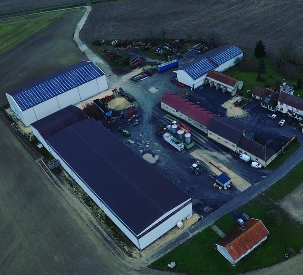 Panneaux photovoltaïques 100kWc exploitation agricole 51230 2