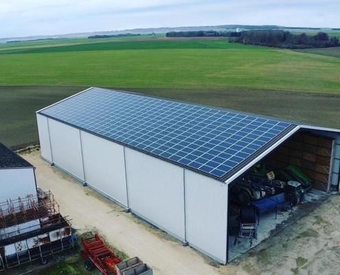 Panneaux photovoltaïques 100kWc exploitation agricole 51230 4