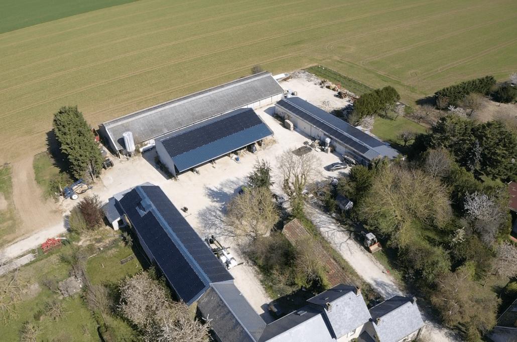 Panneaux photovoltaïques 100kWc + 12kWc exploitation agricole 45300 2