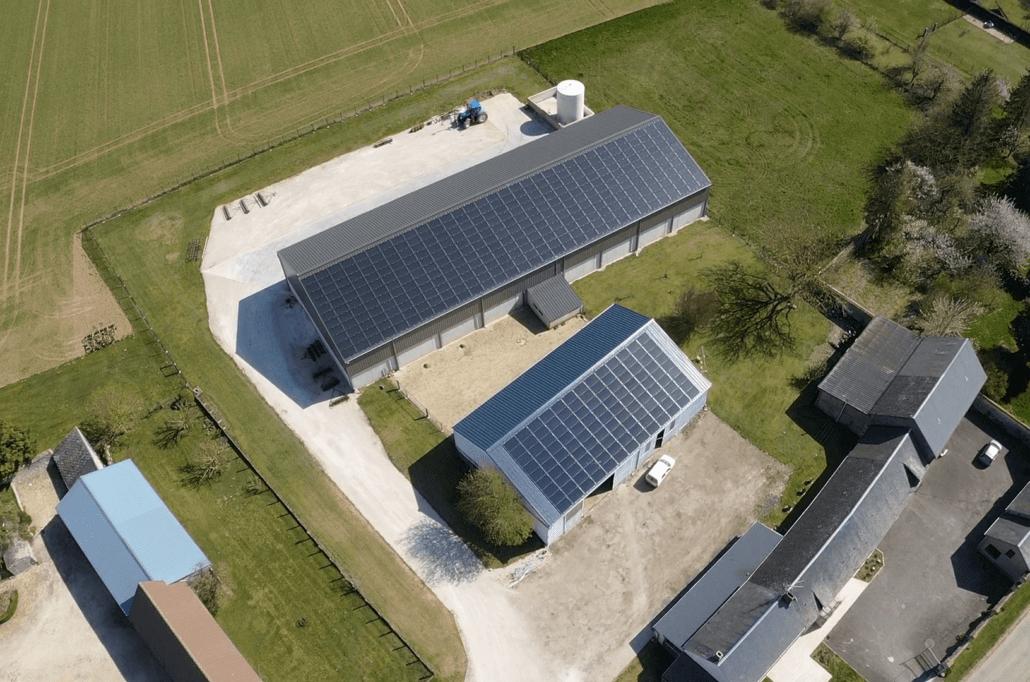Panneaux photovoltaïques 100kWc + 36kWc exploitation agricole 45480 1