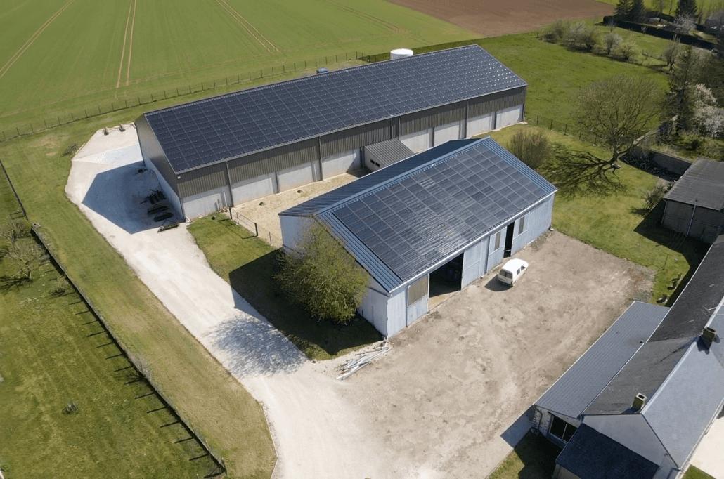 Panneaux photovoltaïques 100kWc + 36kWc exploitation agricole 45480 2
