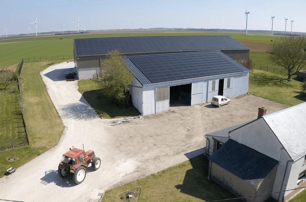 Panneaux photovoltaïques 100kWc + 36kWc exploitation agricole 45480 3