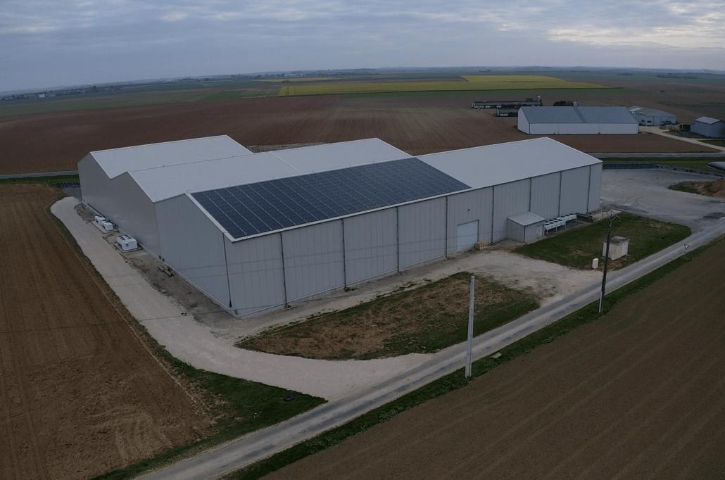 Panneaux photovoltaïques 100kWc exploitation agricole 28200 2