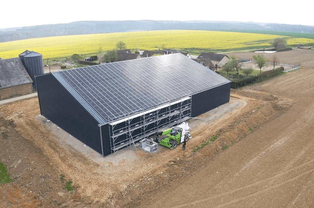 Panneaux photovoltaïques 100kWc exploitation agricole 28500 2