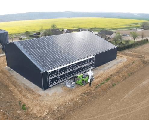 Panneaux photovoltaïques 100kWc exploitation agricole 35320 2