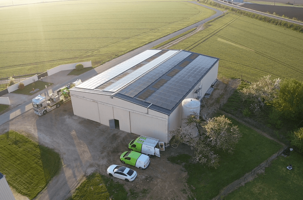Panneaux photovoltaïques 100kWc exploitation agricole 45300 2