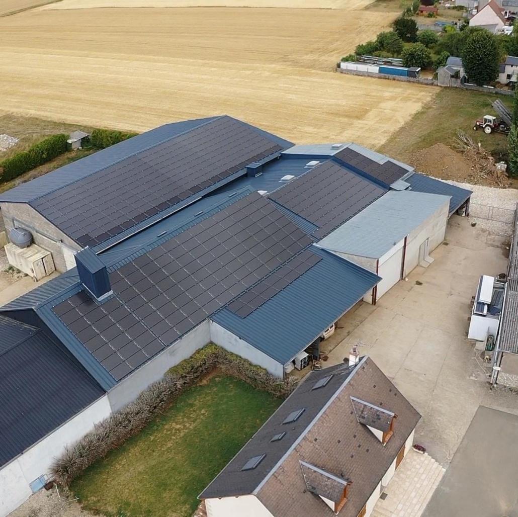 Panneaux photovoltaïques 100kWc exploitation agricole 45480 3