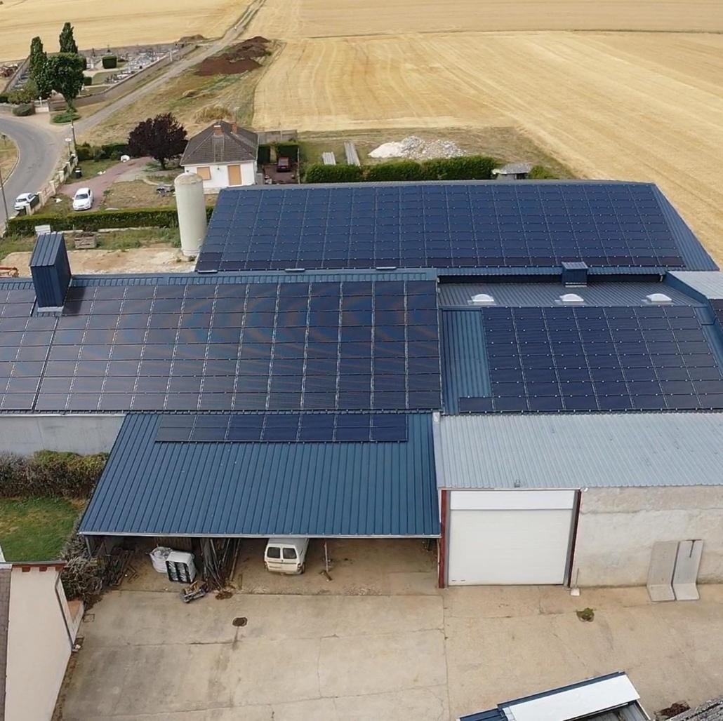 Panneaux photovoltaïques 100kWc exploitation agricole 45480 1