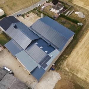 Panneaux photovoltaïques 100kWc exploitation agricole 45480 2