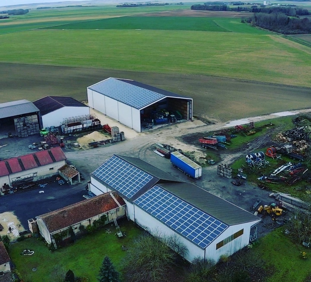 Panneaux photovoltaïques 100kWc exploitation agricole 51230 5