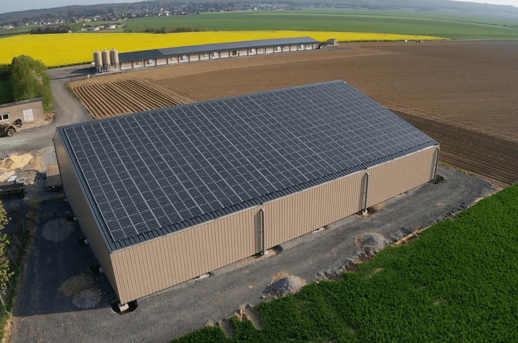 Panneaux photovoltaïques agricole 2x100kWc GRE 1