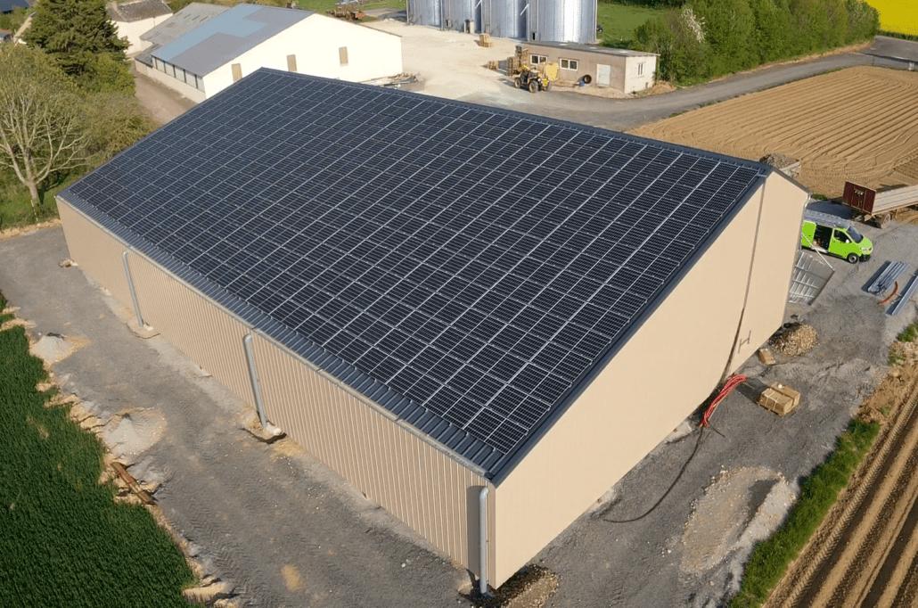 panneaux photovoltaïques agricole installés par GROUPE ROY ÉNERGIE