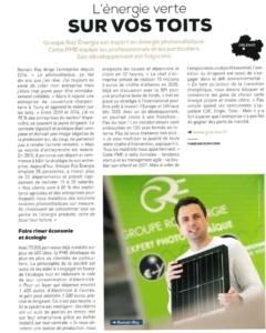 Acteurs de l'Éco avril 2020 article Groupe Roy Énergie