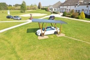 Carport photovoltaïque du Groupe Roy Énergie