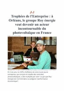 La République du Centre novembre 2019 article Groupe Roy Énergie