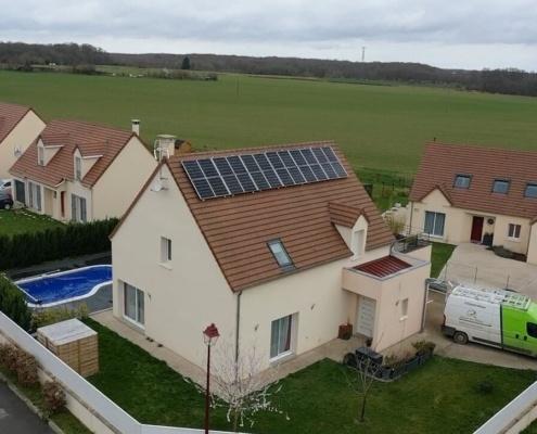Panneaux photovoltaïques pour particulier installés par le Groupe Roy Énergie