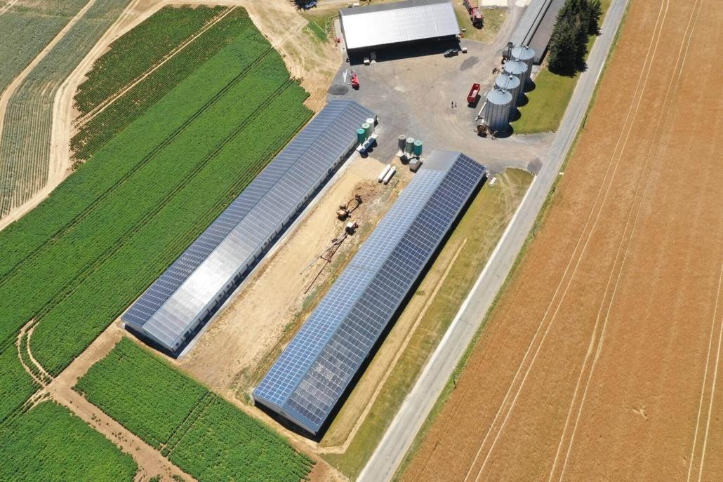 Panneaux photovoltaïques agricole GRE 330 kWc 28190 2