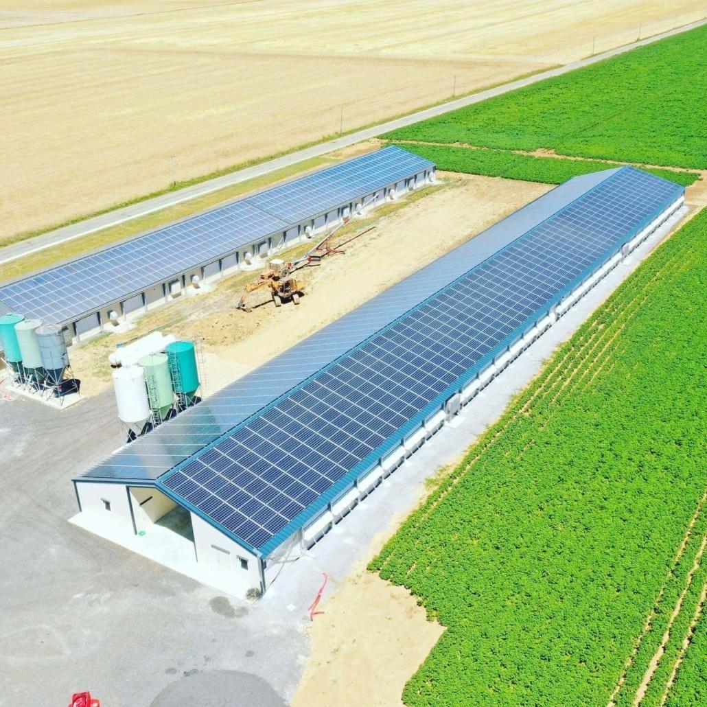 Panneaux photovoltaïques agricole GRE 330 kWc 28190 3