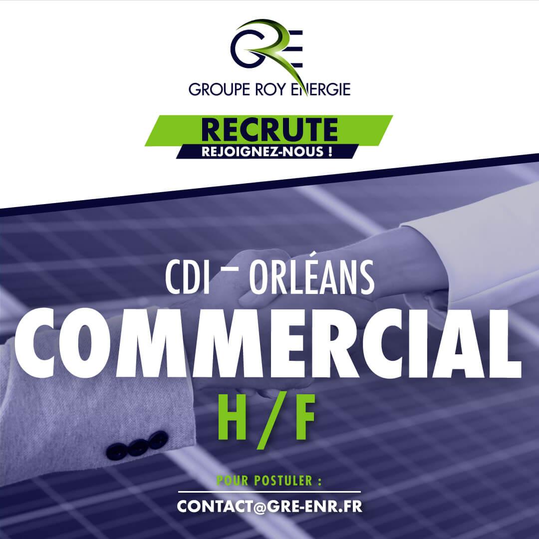 Offre d'emploi Technico-Commercial en énergies renouvelables GROUPE ROY ÉNERGIE