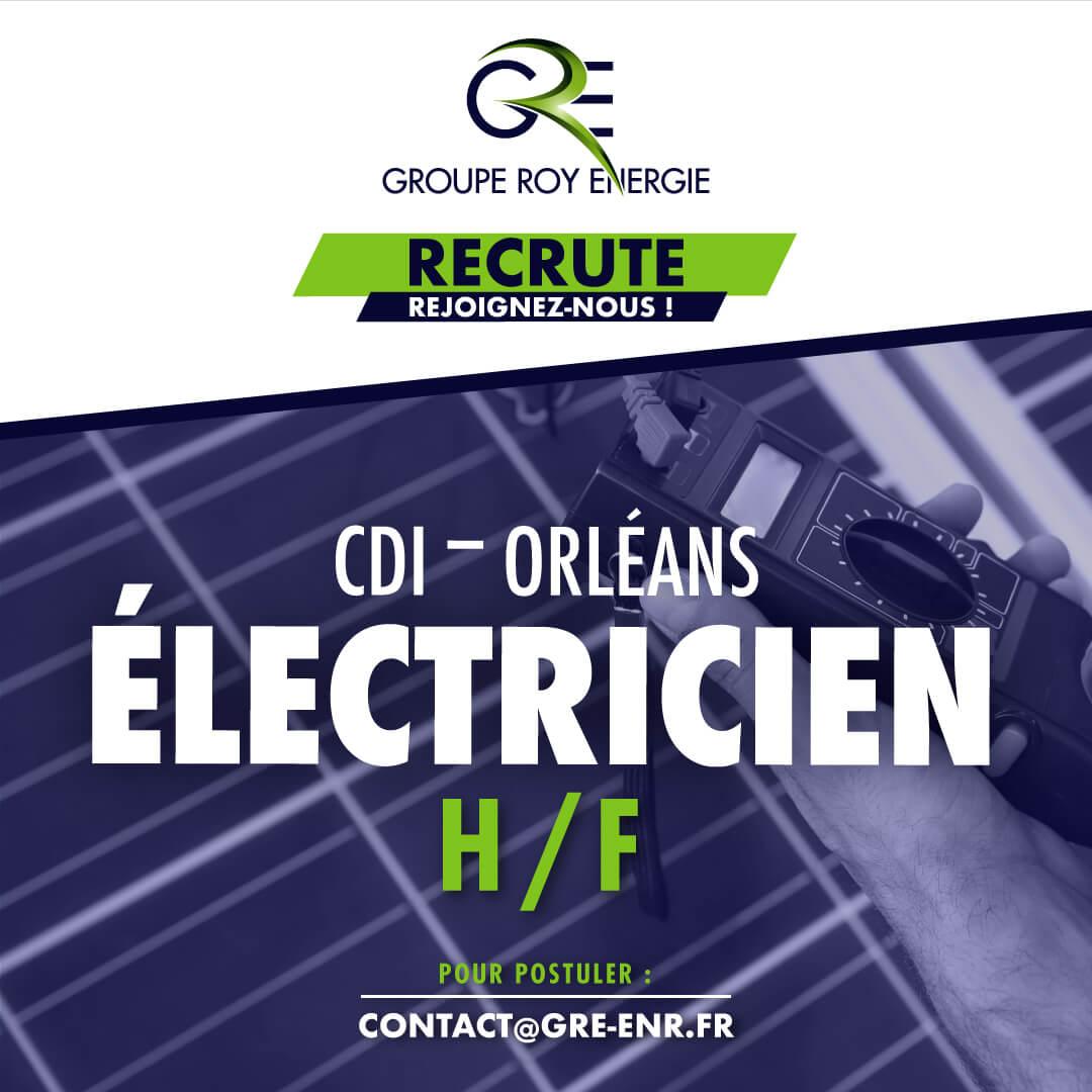 Offre d'emploi Électricien Photovoltaïque GROUPE ROY ÉNERGIE