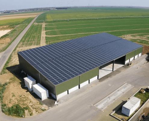 bâtiment agricole photovoltaïque réalisé par GROUPE ROY ÉNERGIE 2