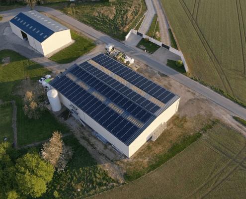 bâtiment agricole photovoltaïque réalisé par GROUPE ROY ÉNERGIE 3