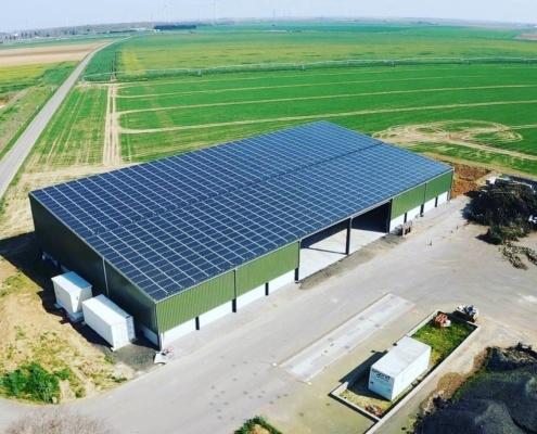 hangar agricole monopente photovoltaique Groupe Roy Énergie