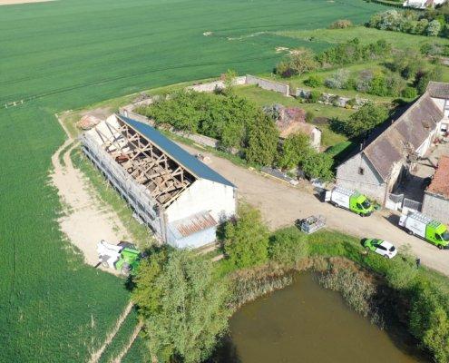 Rénovation photovoltaïque d'un bâtiment agricole GROUPE ROY ÉNERGIE
