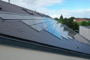Salle des fêtes de Saint Jean le Blanc 45650 équipée de panneaux photovoltaïques par le Groupe Roy Énergie 1