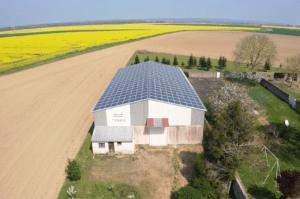 toit bâtiment agricole panneaux photovoltaïques