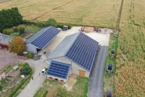 Loiret hangar agricole équipé de panneaux photovoltaïques