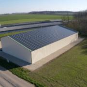 bâtiment équipé de photovoltaïque GRE