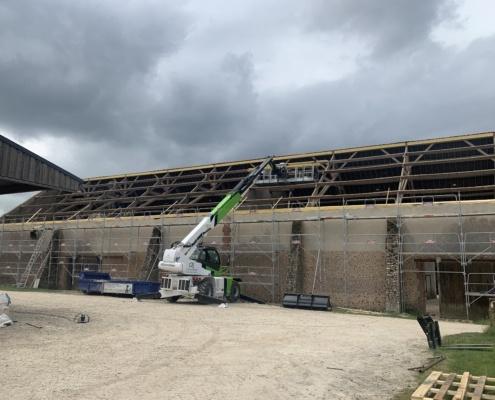 Rénovation toiture photovoltaïque bâtiment agricole