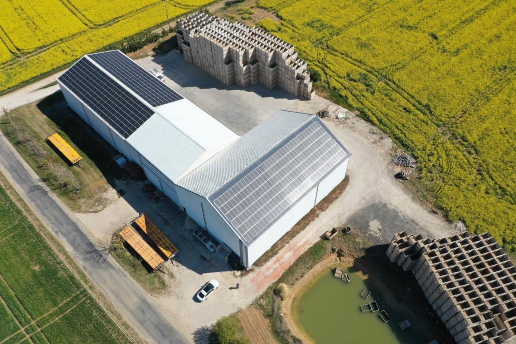 136 kWc bâtiment photovoltaïque 45