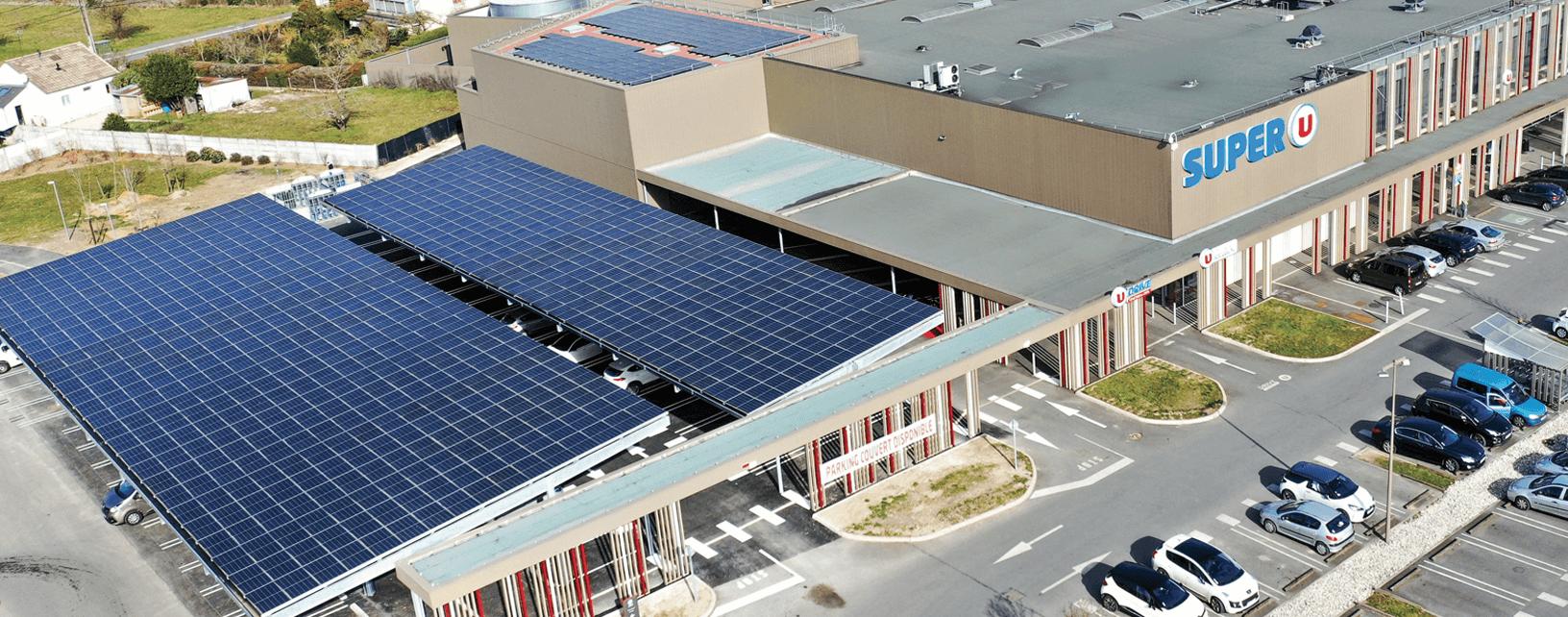 ombrières photovoltaïques de parking
