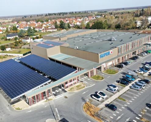 ombrière photovoltaique de parking