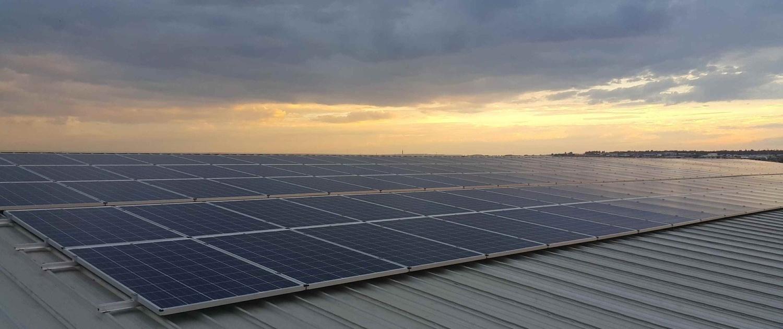 Bâtiment industriel photovoltaïque